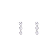 Trio Diamond Drop Earrings