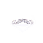 V-Shaped Half Eternity Ring