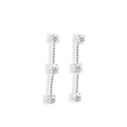 Trio Diamonds Dangle Earrings