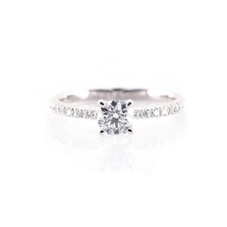 Classic French Pavé Engagement Ring (Mounting)