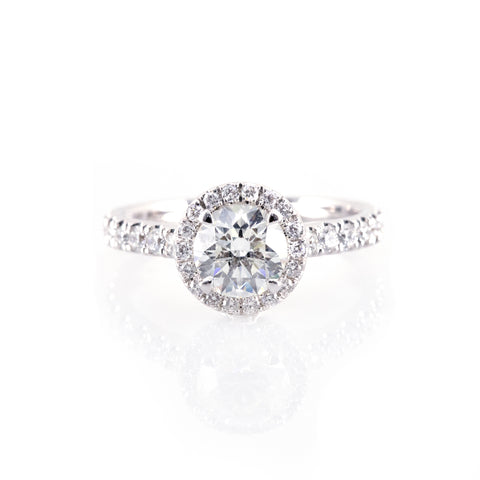 Classic Halo Engagement Ring (Mounting)