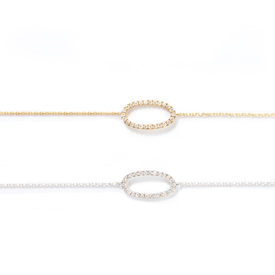 Oval-Shaped Diamond Bracelet