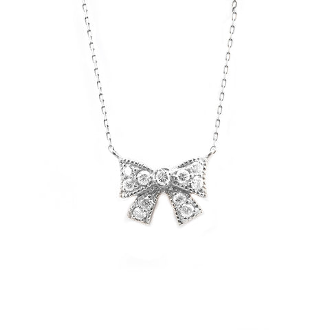 Ribbon Diamond Necklace