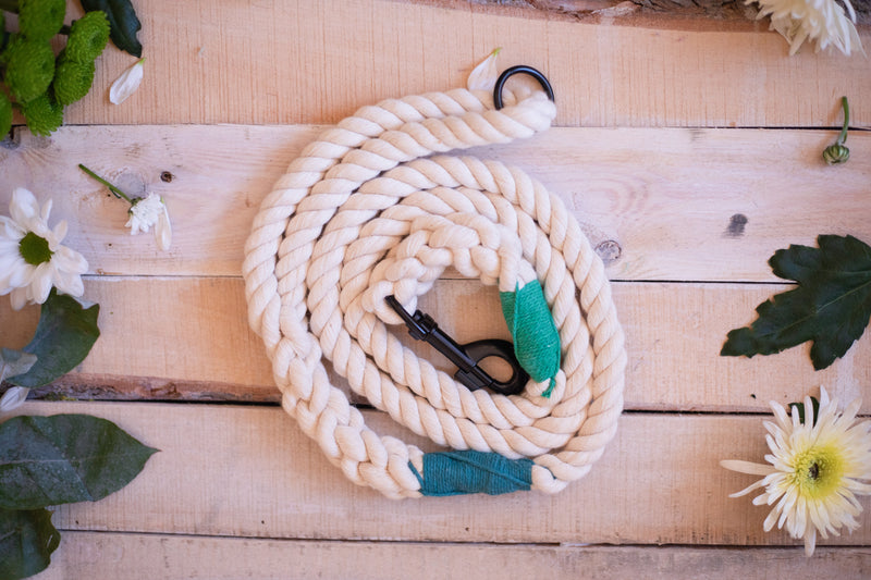 Snap To It - Natural Rope Lead - Donated To Crocodiles Of The World