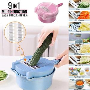 9 in 1 Multipurpose Vegetable Slicer Handheld (BUY 1 FREE 1)