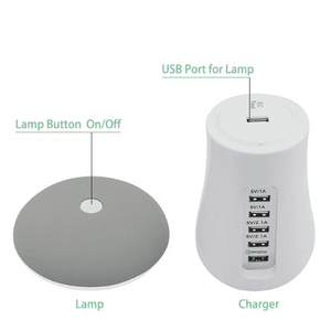 USB charging dock and light