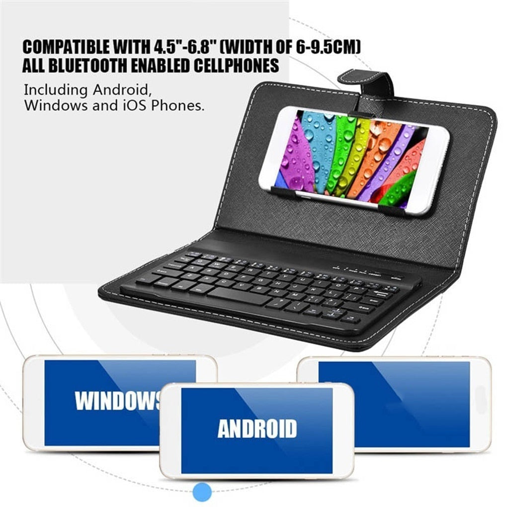 Bluetooth Keyboard With Leather Case
