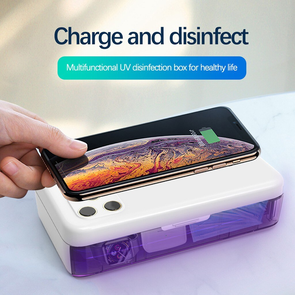 PureSafe 	™ - Wireless Charging & UV Light Sterilizer Safe