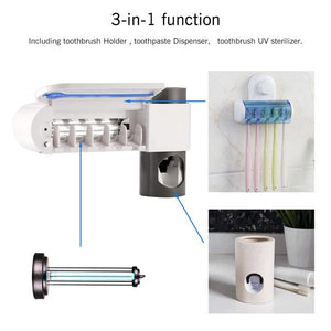 Automatic Toothbrush Sterilizer Toothpaste Dispenser
