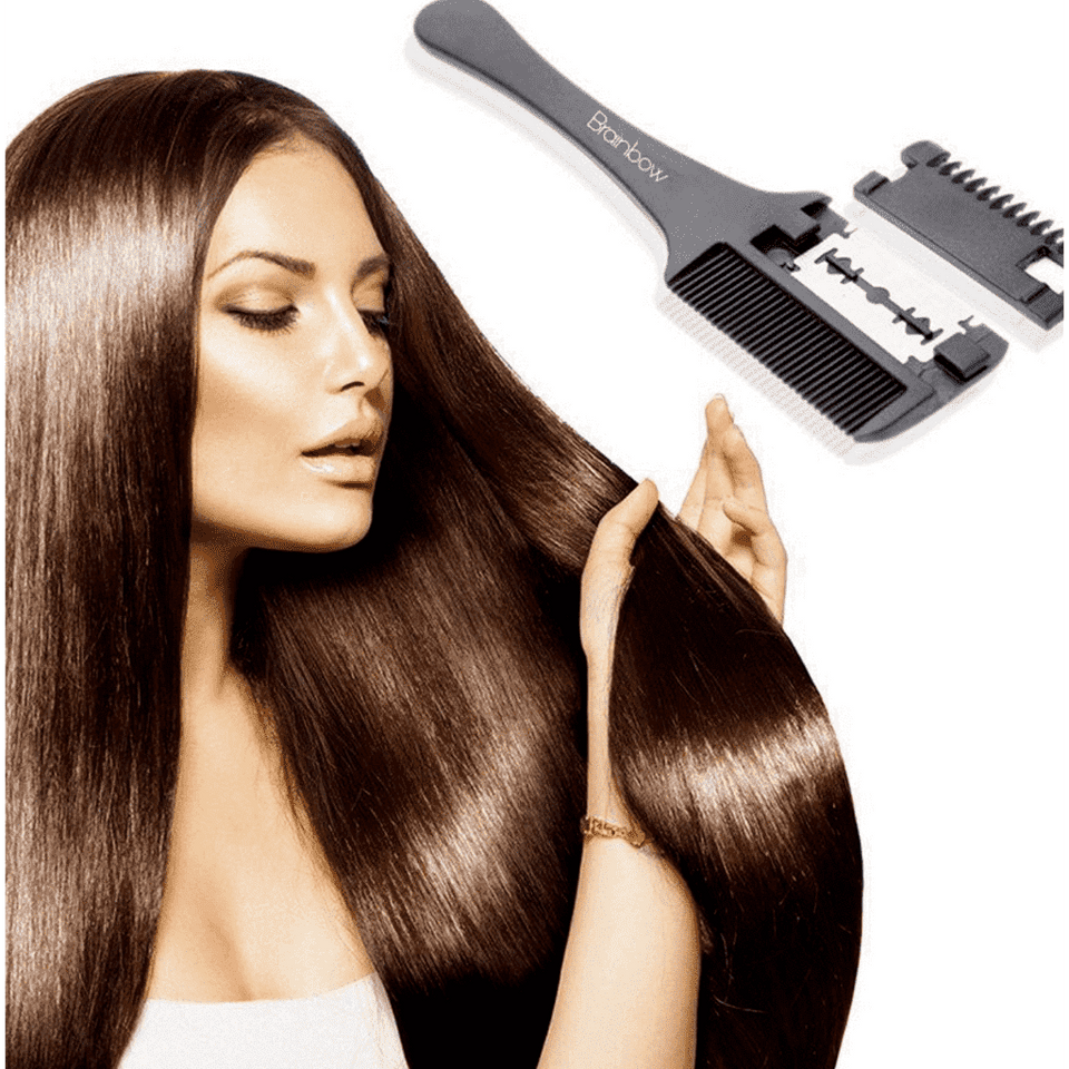 Professional Hair Cutting Comb with Razor Blade