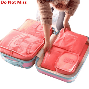 6pce Oxford Cloth Suitcase Packing Cube Organizer