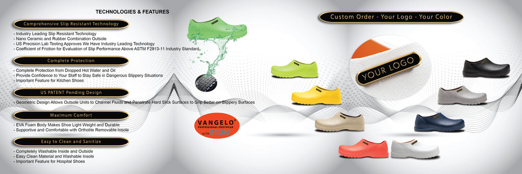 What makes slip resistant shoe lines of Vangelo Professional Footwear that special?