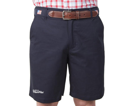 "Men's Classic 9"" Shorts embroidered with Marquis Who's Who"