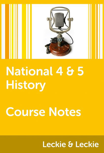 Course Notes for SQA Exams - National 4/5 History Course Notes: Powered by Collins Connect, 1 year licence (Course Notes for SQA Exams)
