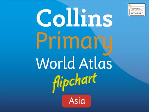 Collins Primary Atlases - Collins Primary Atlas Asia Flipchart:Download for use with Promethean software edition
