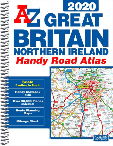 Great Britain Handy A-Z Road Atlas 2020 (A5 Spiral)
