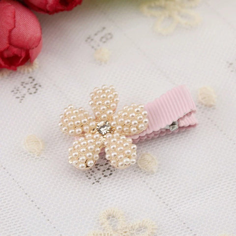 Pearl Crown Flower Hair Clip -RuoShui