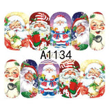 1 Sheet Christmas Snow Flower Nail Stickers Full Wraps Water Transfer Sticker Nail Art Decals Manicure Styling Tools BEA1187