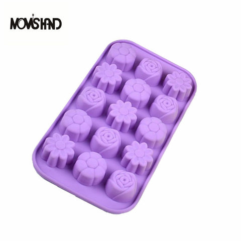 15 Hole Flower Funny Chocolate Hearts Mold Ice Cube