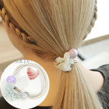 1PC Hair Ropes Beauty Simulation Flowers Elastic Hair Bands Girls Ponytail