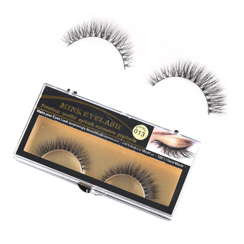 100% Mink Natural Thick False Fake Eyelashes Eye Lashes Makeup
