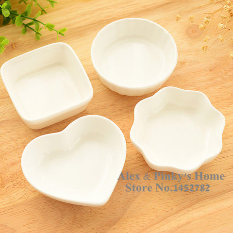 1pc Japanese Creations White Ceramic Dishes