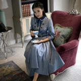 Autumn Women dress Vintage Retro Elegant