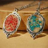 New Department of forestry natural dried flowers pendant necklace