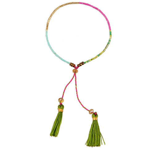 Bohemia Tassel Cheap Handmade Multicolour Woven Friendship Bracelet