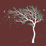 Huge White Tree Wall Decal Sticker Nursery Baby Wall For Kids Rooms
