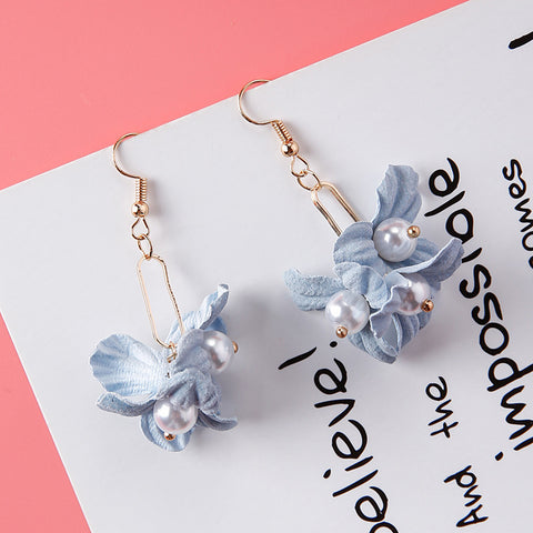 Simulated Pearl Beads Simple Long Earrings For Women