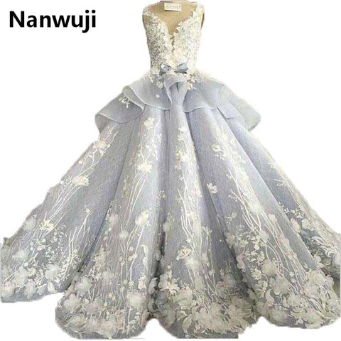 Spaghetti Chapel Train  Sweetheart Ball Gown Luxury Wedding Dress