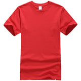 New Solid color T Shirt Mens Black And White 100% cotton