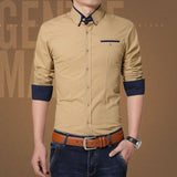 Casual Shirt Men Cotton Slim Fit Plus Size Stylish Shirt Camisas Plus Size