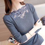 Spring Lace Knitted Sweater Women
