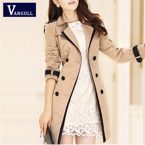 New hot  spring autumn overcoats women's trench coats