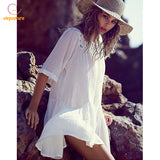 Beach Cover Up With Pocket Bikini Cover Up Hollow Out Crochet