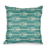 Living Room Pillow Geometric Pattern Pillow Cotton Linen Printed