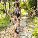 Sweet Mom Daughter Swimwear Swimsuit for families
