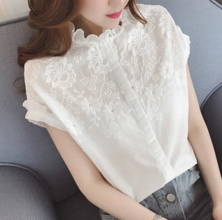 Summer Fashion Style Women Blouses Loose Floral Tops