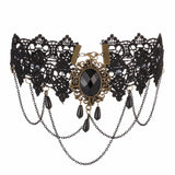 Sexy Gothic Chokers Black Lace Necklace Vintage Victorian Women