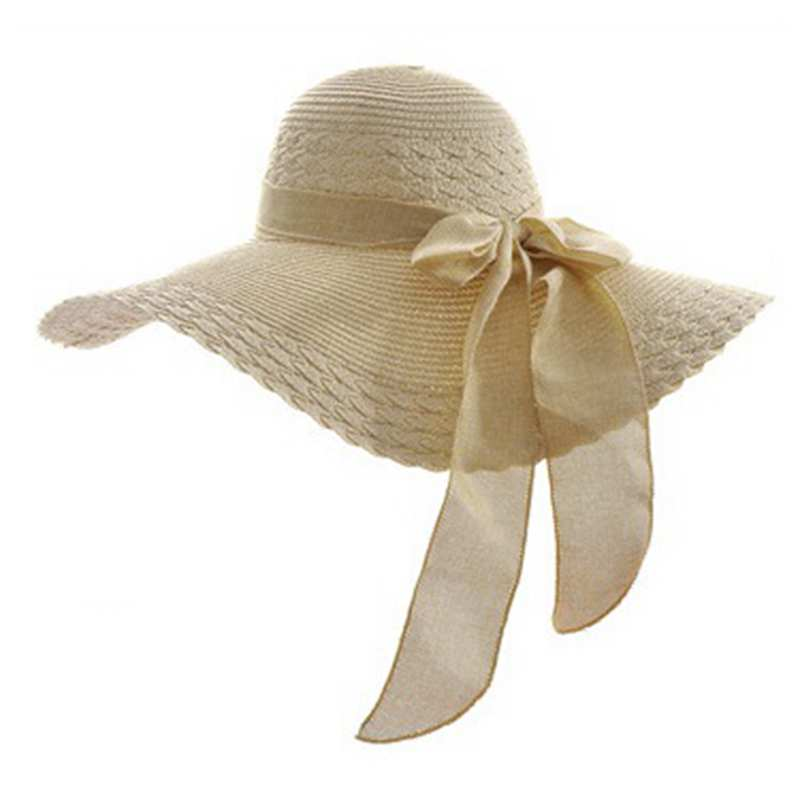 706871ed231 2018 ladies summer hats with brim straw hats for baech sun – I sell ...