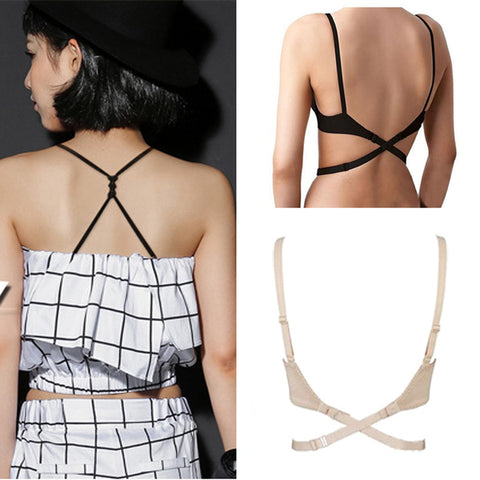 3Pcs Women Lady Low Back Backless Straps For Bra Straps Sexy Bra Strap Holder