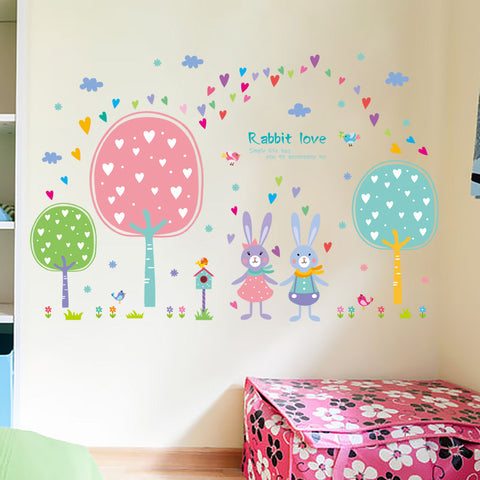 5 Designs Cartoon Animals Kids Room Wall Stickers