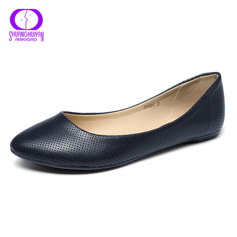 Women Loafers Shoes Brand Women Flat Shoes Comfortable Soft Leather - 3 Colors