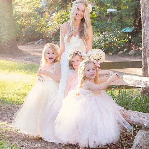 f712fd97e4 Baby Girls Tutu Dress Fluffy Princess Wedding Dress Children Ballet Handmade