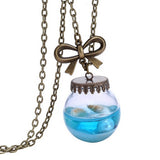 Charming Jewelry Sea Ocean Glass Bottle Mermaid Tears Shells Star Pendant Necklace