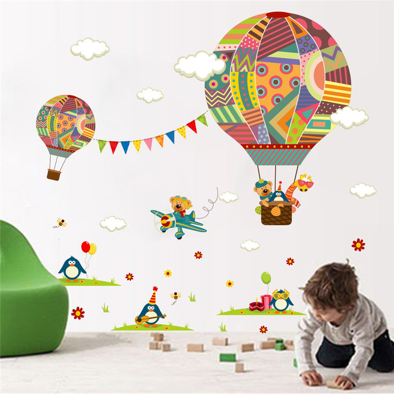 Colorful Hot Air Balloon Wall Sticker For Kids Rooms Wall Decals U2013 I Sell  What I Love