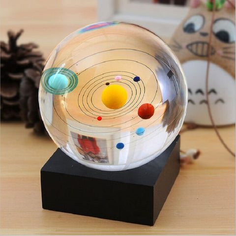 Crystal Lighting Base Solar System Crystal Ball Globe Astronomical