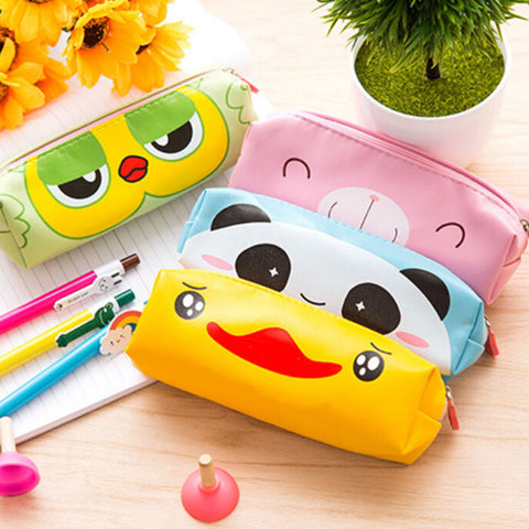Cute Cartoon Pencil Case Kawaii Box Zipper Animals Pen Bag For Kids School Stationery